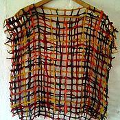 """Одежда ручной работы. Ярмарка Мастеров - ручная работа Безрукавка """"Охра и серый"""". Handmade."""