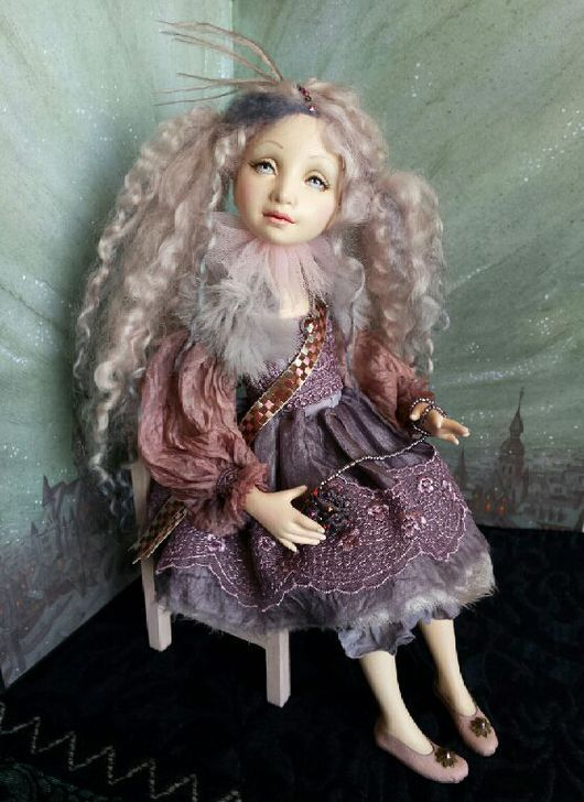Коллекционные куклы ручной работы. Ярмарка Мастеров - ручная работа. Купить Принцесса авторская кукла из флюмо 31см сидя. Handmade.
