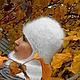 Шапки ручной работы. Ярмарка Мастеров - ручная работа. Купить зимняя шапочка-шлем. Handmade. Белый, теплая, женская
