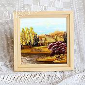 Картины и панно handmade. Livemaster - original item painting on birch bark. Panels of birch bark. Picture of nature. seasons.. Handmade.