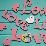 Подарки к праздникам ручной работы. Ярмарка Мастеров - ручная работа Слово из дерева Love. Handmade.