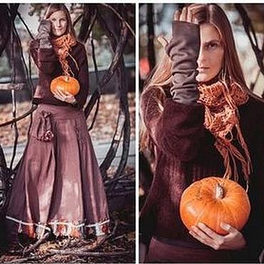 """Одежда ручной работы. Ярмарка Мастеров - ручная работа Бохо-юбка """"Осень в Шервуде"""". Handmade."""