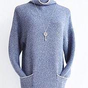 Одежда ручной работы. Ярмарка Мастеров - ручная работа Платье-туника в елочку. Handmade.
