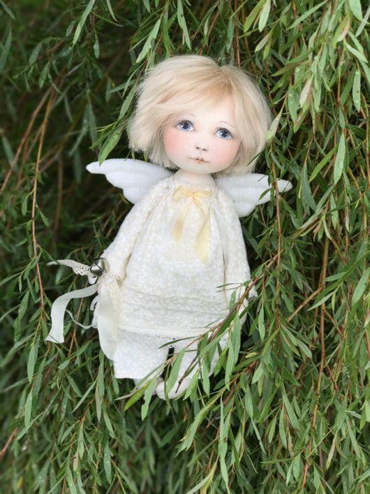 Коллекционные куклы ручной работы. Ярмарка Мастеров - ручная работа. Купить Ангелочек. Handmade. Ангел, подарок, текстиль, ленты шёлковые