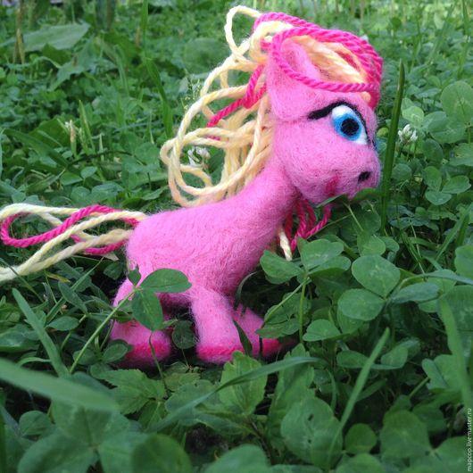 Игрушки животные, ручной работы. Ярмарка Мастеров - ручная работа. Купить Май литл пони Пинки Пай. Handmade. Розовый