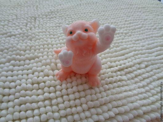 Мыло ручной работы. Ярмарка Мастеров - ручная работа. Купить Веселый котик. Handmade. Котик, сувениры и подарки