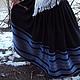 """Юбки ручной работы. Ярмарка Мастеров - ручная работа. Купить Юбка """"Марьяна """" с голубым. Handmade. Юбка, славянская юбка"""