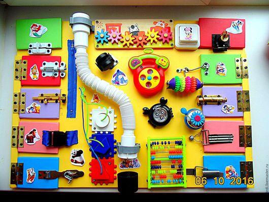 Развивающие игрушки ручной работы. Ярмарка Мастеров - ручная работа. Купить Бизиборд от Георгия 17. Handmade. Комбинированный, Монтессори, подарок