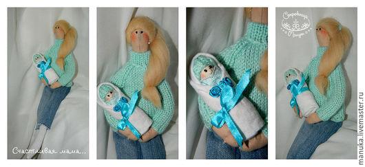 Куклы Тильды ручной работы. Ярмарка Мастеров - ручная работа. Купить Тильда мама с ребенком. Handmade. Комбинированный, молодая мама