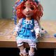 Коллекционные куклы ручной работы. Алиса. Текстильная игровая кукла... Анна Талалайко. Ярмарка Мастеров. Хлопок 100%