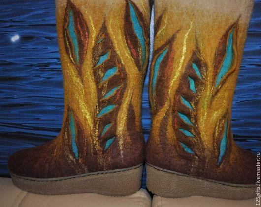 """Обувь ручной работы. Ярмарка Мастеров - ручная работа. Купить Валенки женские на подошве """"Фантазия"""". Handmade. Валенки для улицы"""