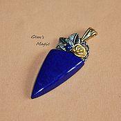 Украшения handmade. Livemaster - original item Pendant made of lapis lazuli