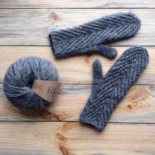 Варежки, митенки, перчатки ручной работы. Ярмарка Мастеров - ручная работа. Купить Вязаные варежки из альпаки. Handmade. Варежки