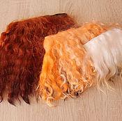 Материалы для творчества handmade. Livemaster - original item Set tress and skins of Lot No. 2 hair pieces mohair and skins of goats. Handmade.