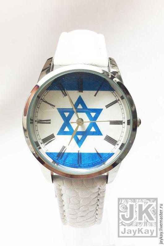 """Часы ручной работы. Ярмарка Мастеров - ручная работа. Купить Часы наручные JK """"Флаг. Израиль"""". Handmade. Часы"""