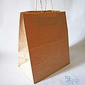 Материалы для творчества ручной работы. Ярмарка Мастеров - ручная работа Крафт пакет, 32х37х20, с кручеными ручками пакеты, широкий, купить. Handmade.
