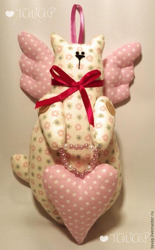 Куклы Тильды ручной работы. Ярмарка Мастеров - ручная работа. Купить Влюбленный котик. Handmade. Комбинированный, кукла ручной работы