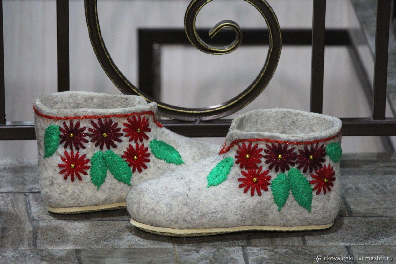 Chuni on the sole with embroidery, Slippers, Cheboksary,  Фото №1