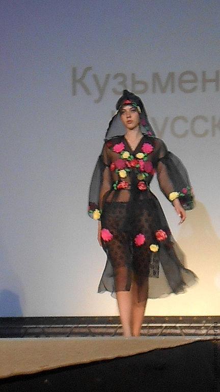 """Верхняя одежда ручной работы. Ярмарка Мастеров - ручная работа. Купить Пальто -накидка """"Русские розы"""". Handmade. Черный, ирландия"""