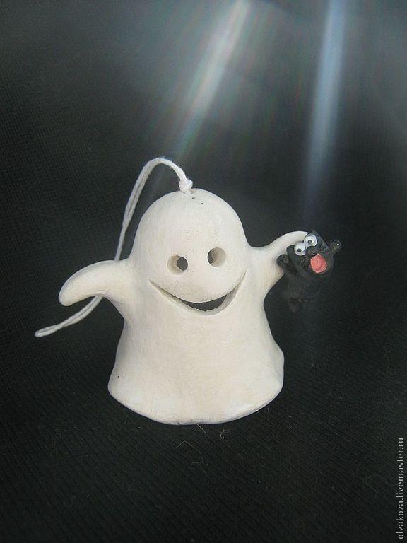 Подарки на Хэллоуин ручной работы. Ярмарка Мастеров - ручная работа. Купить А вы верите в привидения? Колокольчики. Handmade. Колокольчики