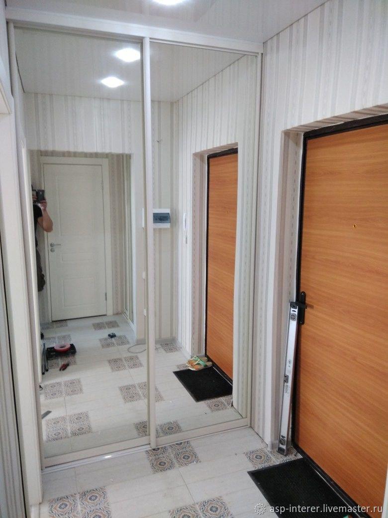 Шкаф-купе зеркальный гардеробный, Шкафы, Москва, Фото №1