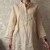 Одежда ручной работы. Ярмарка Мастеров - ручная работа льняная блуза. Handmade.
