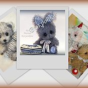 Материалы для творчества handmade. Livemaster - original item **** A Set of patterns: Bunny, bear and elephant. Handmade.