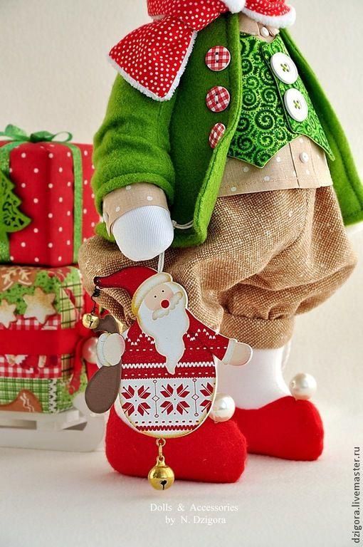 Игрушки животные, ручной работы. Ярмарка Мастеров - ручная работа. Купить Белый рождественский кролик. Handmade. Ярко-красный
