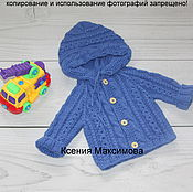Работы для детей, handmade. Livemaster - original item jacket with hood for boy Mod. Handmade.