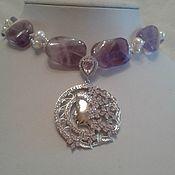 Украшения handmade. Livemaster - original item Necklace - choker amethyst. Handmade.
