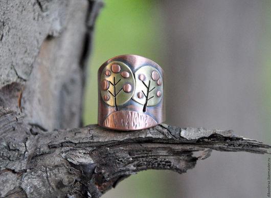 """Кольца ручной работы. Ярмарка Мастеров - ручная работа. Купить Кольцо """"Яблоньки"""" (новый урожай :-). Handmade. Розовый"""
