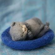 """Куклы и игрушки ручной работы. Ярмарка Мастеров - ручная работа валяный котенок """"Масик"""" (нашел дом). Handmade."""
