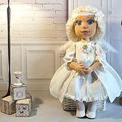 Ангелочек текстильная коллекционная, интерьерная кукла