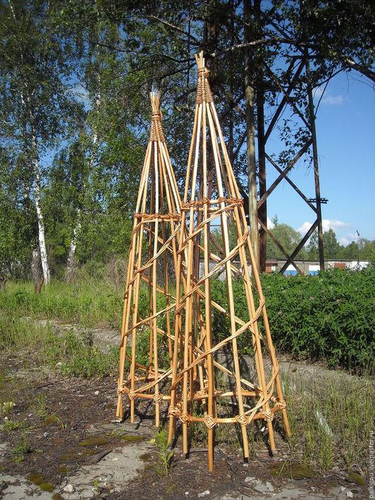 Подставки под цветы ручной работы. Ярмарка Мастеров - ручная работа. Купить Пирамида Плетеная опора для вьющихся растений. Handmade.