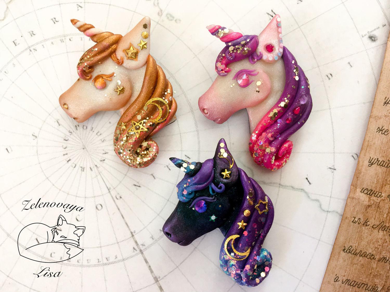 Brooch ' Unicorns bright magic magic unicorn for children', Brooches, Bryukhovetskaya,  Фото №1