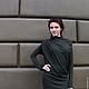 Платья ручной работы. Ярмарка Мастеров - ручная работа. Купить Платье VAV Осень. Handmade. Магия, сложный зеленый
