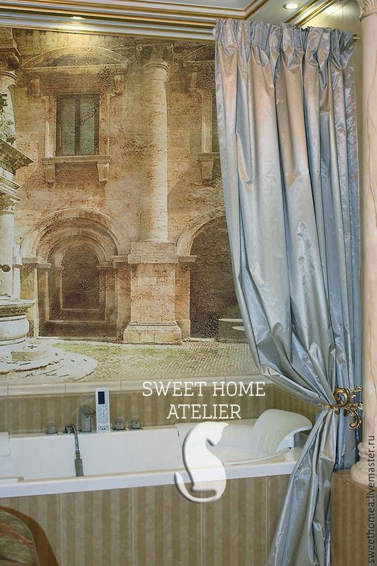 Текстиль, ковры ручной работы. Ярмарка Мастеров - ручная работа. Купить Шторы для ванной. Handmade. Шторы для ванной, пошив на заказ