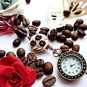 """Украшения ручной работы. Ярмарка Мастеров - ручная работа Часы-подвеска """"Кофе с цукатами"""". Handmade."""