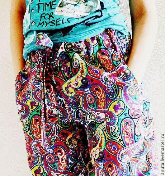 Брюки, шорты ручной работы. Ярмарка Мастеров - ручная работа. Купить Цветные штаны. Handmade. Орнамент, лето 2015