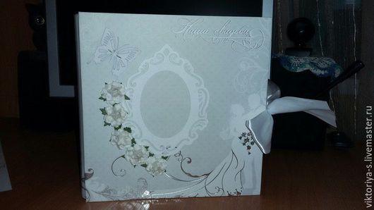 Свадебные фотоальбомы ручной работы. Ярмарка Мастеров - ручная работа. Купить Свадебный альбом. Handmade. Разноцветный, белай, Подарок к свадьбе