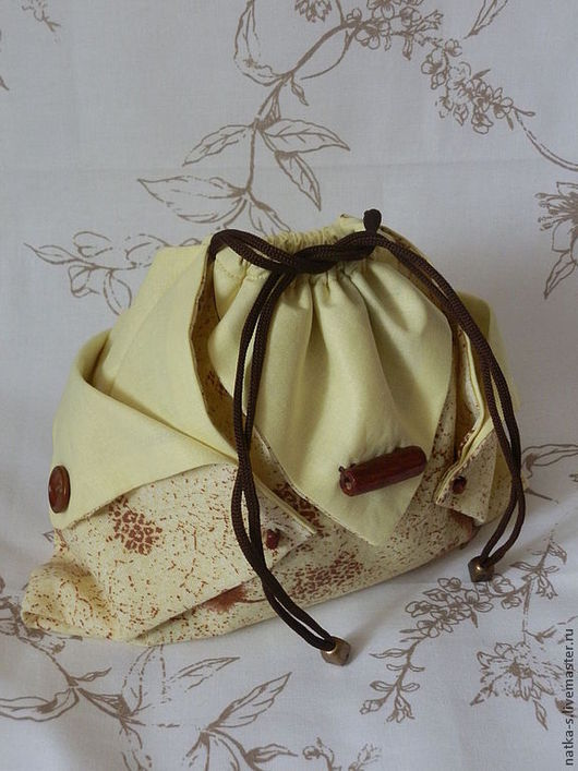 Органайзеры для сумок ручной работы. Ярмарка Мастеров - ручная работа. Купить Косметичка-оригами. Handmade. Желтый, мешок, мешочек, косметичка