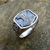 Украшения handmade. Livemaster - original item The ring of the hammer of Thor silver of 925. Handmade.