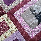 """Для дома и интерьера ручной работы. Ярмарка Мастеров - ручная работа """" МОНПАНСЬЕ""""--3  Лоскутное покрывало с фотографиями. Handmade."""