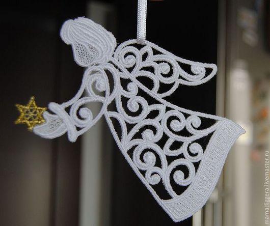 Новый год 2017 ручной работы. Ярмарка Мастеров - ручная работа. Купить Рождественский ангел со звездой. Handmade. Рождество
