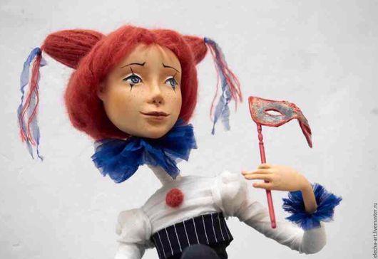 Коллекционные куклы ручной работы. Ярмарка Мастеров - ручная работа. Купить Авторская кукла из полимерной глины Клоунесса. Handmade. Комбинированный