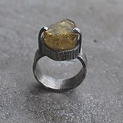 Украшения handmade. Livemaster - original item Beryl Heliodor ring, silver. Handmade.