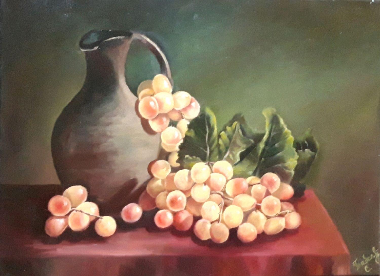 """Картина """"Натюрморт с виноградом"""" картина с виноградом. масло, Картины, Анапа,  Фото №1"""