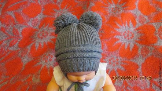 Шапки и шарфы ручной работы. Ярмарка Мастеров - ручная работа. Купить шапочка детская. Handmade. Серый, шапочка для девочки