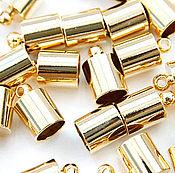 Материалы для творчества handmade. Livemaster - original item The limit is 16K gold plated 10x6 mm EXT. d 5.1 mm South Korea (art. 2944). Handmade.