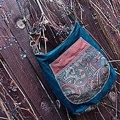 """Сумки и аксессуары ручной работы. Ярмарка Мастеров - ручная работа Зимняя сумка """"Винтажная бирюза"""". Handmade."""